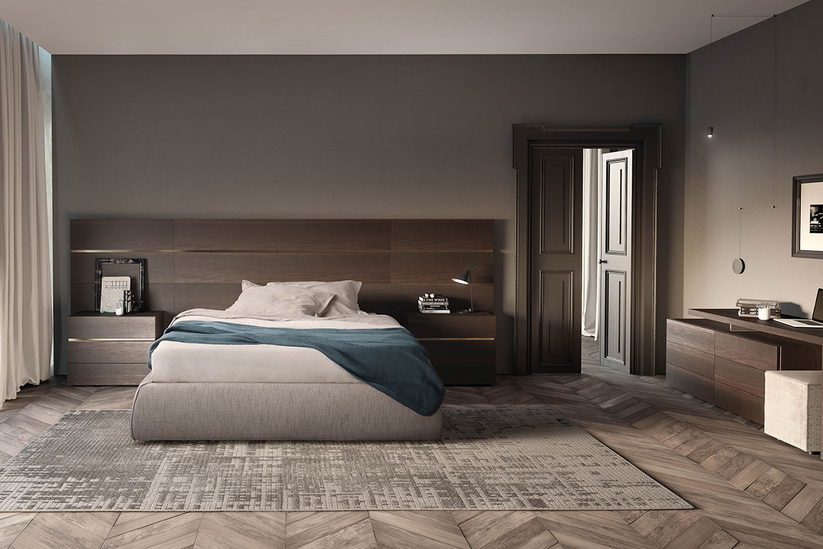 boiserie wallpanels system with piumotto bed Pianca