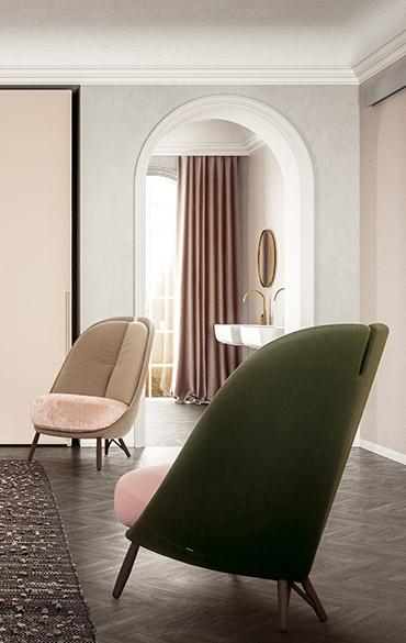 modern italian armchair designed cristina celestino per pianca