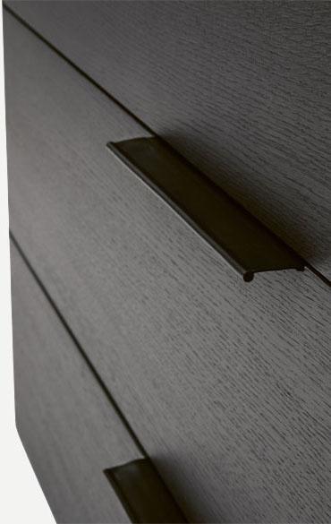 leather handle of dedalo drawer unit Pianca