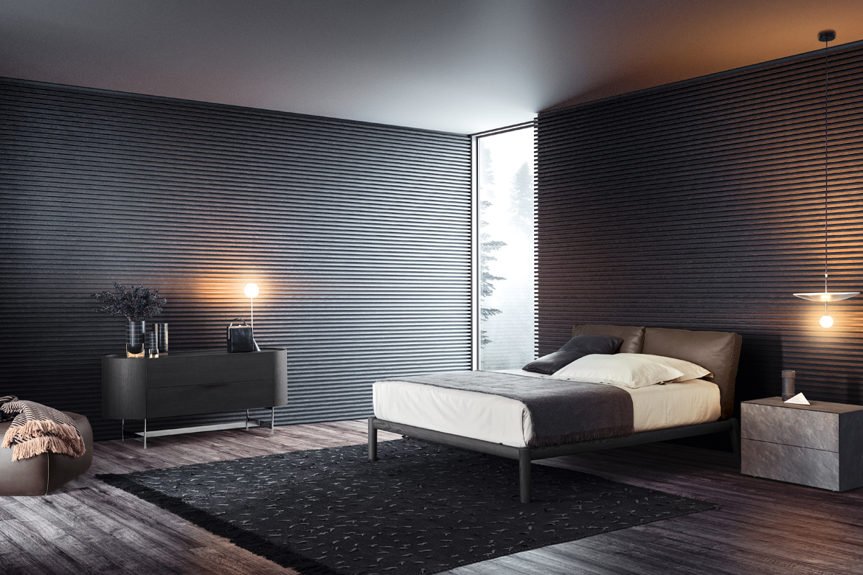 slate cover furniture, dioniso bed design cazzaniga mandelli pugliarulo