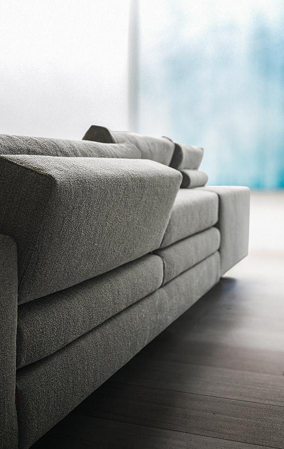 divano con cuscini reclinabili in tessuto sfoderabile duo