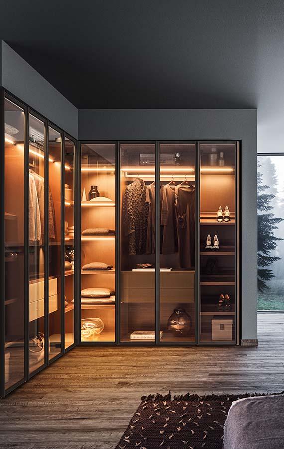Milano modern italian wardrobe hinged doors pianca