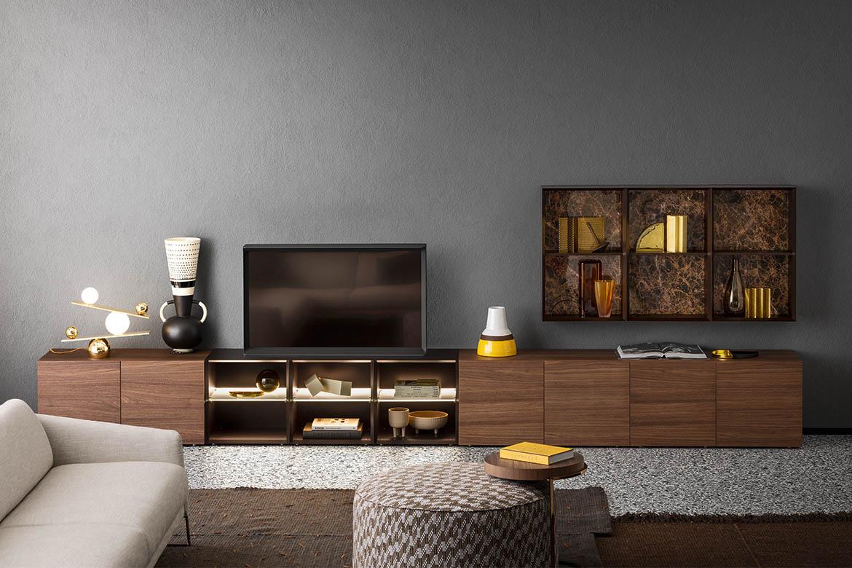 arredamento di design moderno per soggiorno in legno