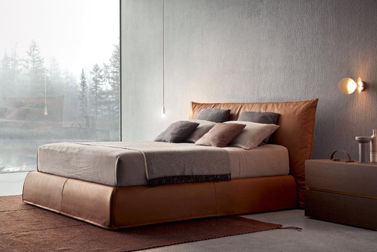 piumotto upholstered bed design andrea castrignano per pianca