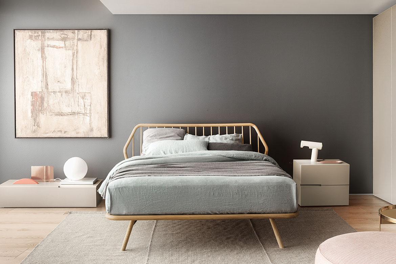 modern italian wooden bed Pianca