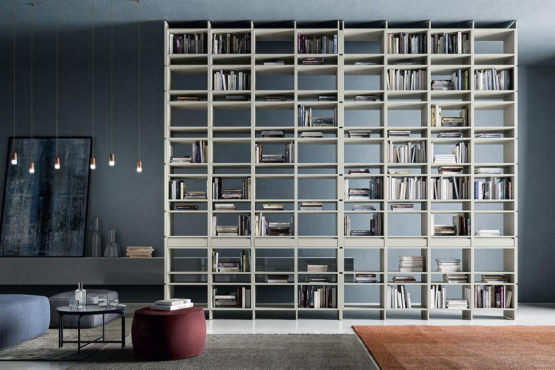 unless double face bookcase modern italian design pianca