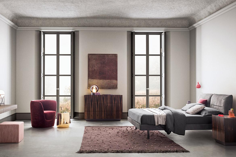 camera da letto moderna stile italiano di design Pianca