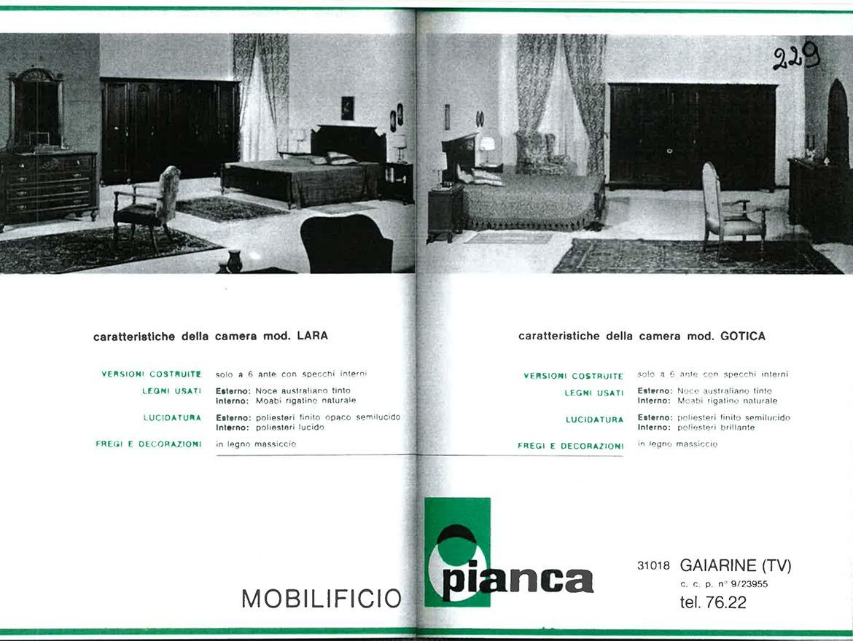 1971 Consapevole del ruolo del design, Pianca partecipa al primo Salone del Mobile: è l'inizio di una presenza ininterrotta fino a oggi.