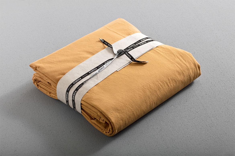 auro completo lenzuola in cotone pianca