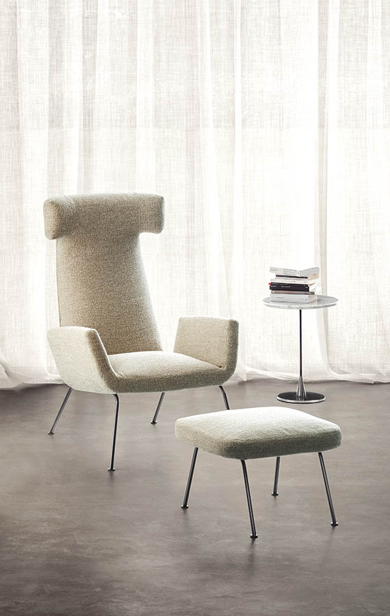 dora armchair with white fabric cover pianca