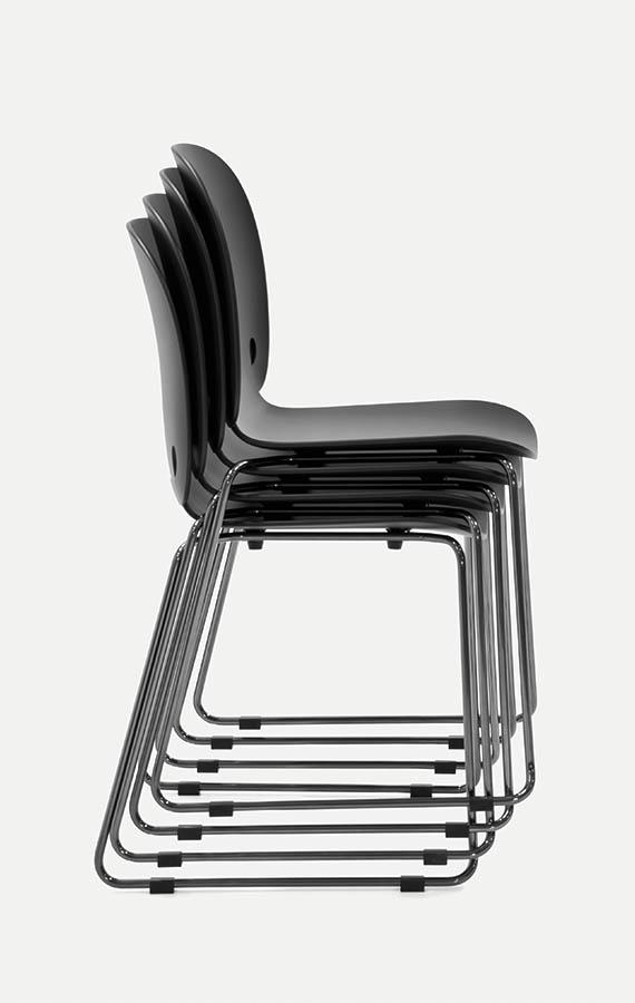 sedie impilabili in poliuretano pianca