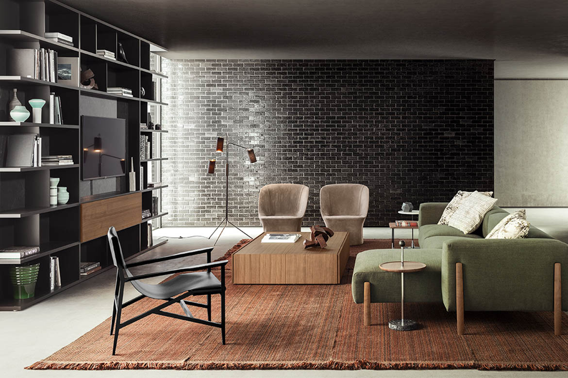 armchairs and sofa of livingroom pianca collection
