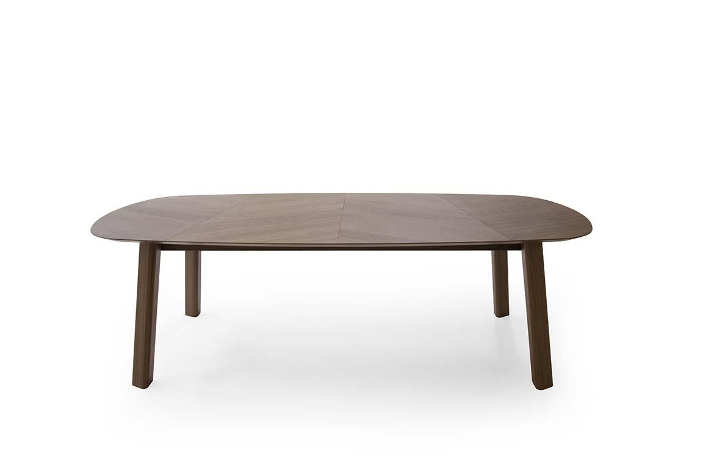 Teorema wooden table design Emilio Nanni for Pianca at salone del mobile di milano 2019