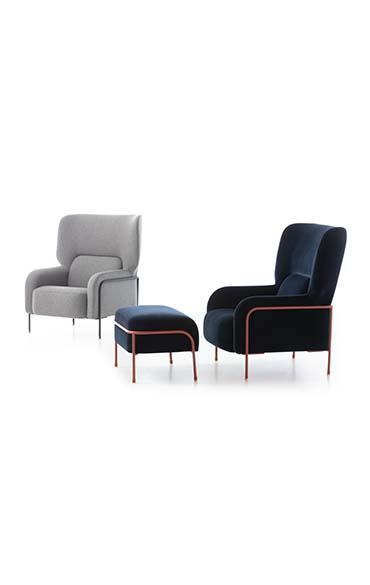 Platea armchairs design Emilio Nanni for Pianca at salone del mobile 2019