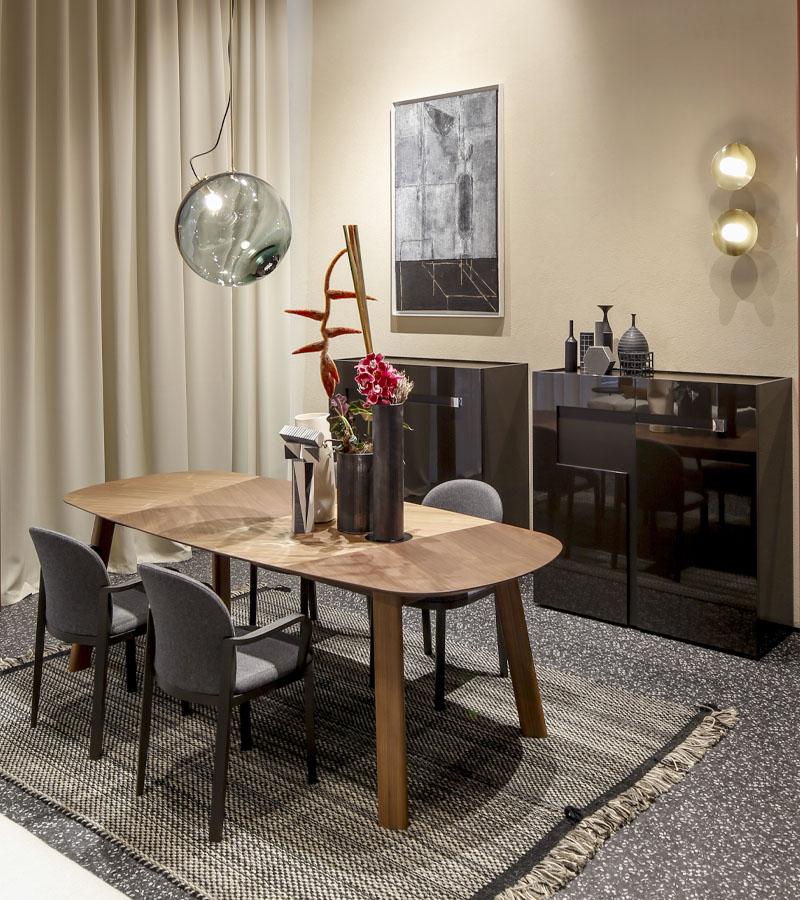 Tavolo in legno Teorema design Emilio Nanni per Pianca