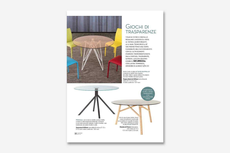 tavolo maestro sulla rivista cose di casa
