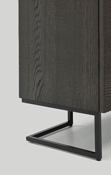 grafica sideboard with metal base pianca