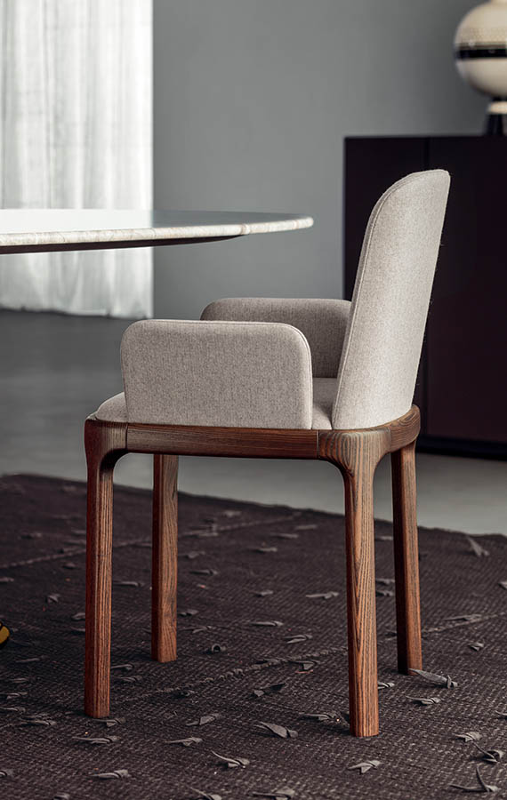 inari chair with armrest design philippe tabet per pianca