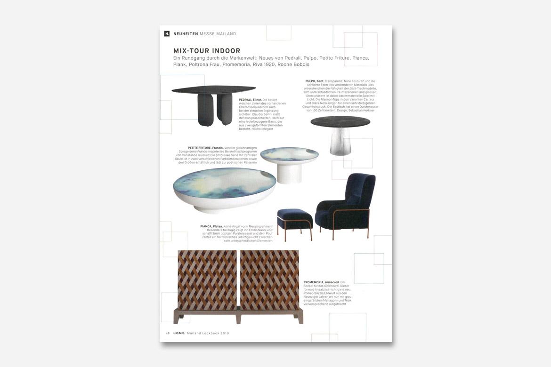 home edition paltea poltrona design emilio nanni per pianca