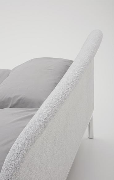 Rada letto moderno design Philippe Tabet
