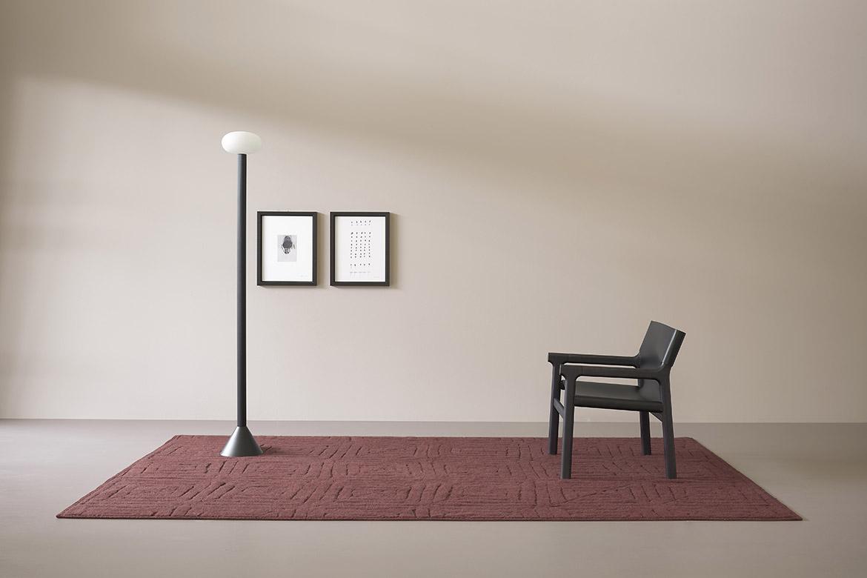 italian rugs design Pianca red carpet