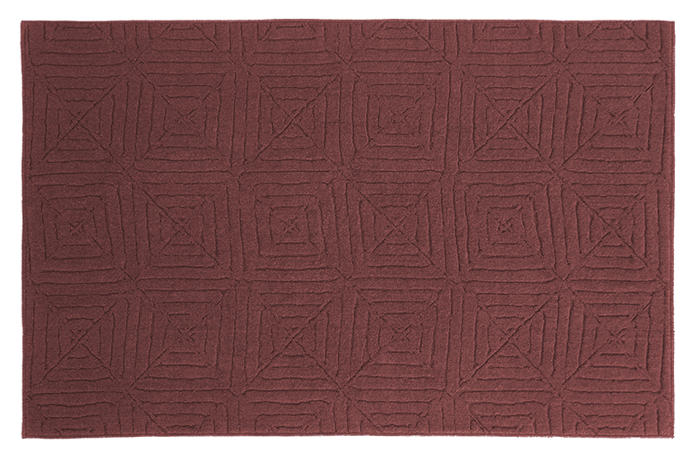 carpet in wool and natural cotton design Pianca