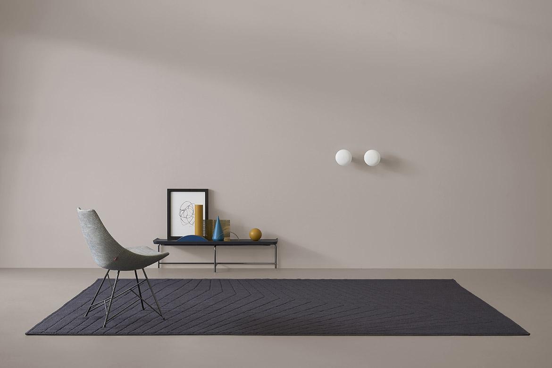 grey rug made in italy design Pianca