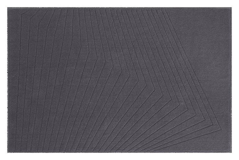 tappeto moderno contemporaneo con disegni geometrici colore grigio in lana sarda fatto a mano