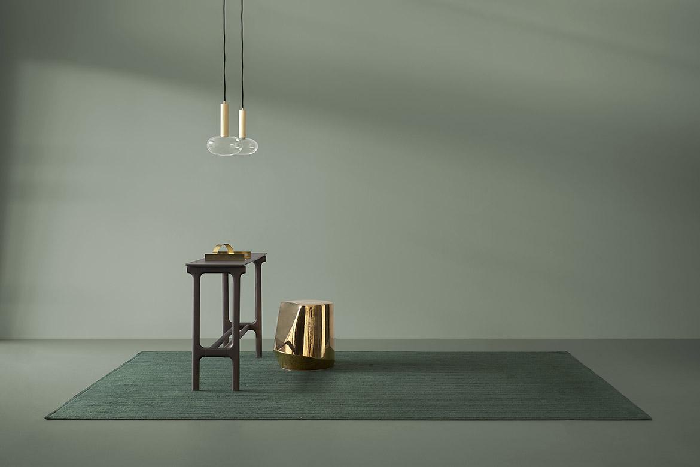 italian design green rugs Pianca
